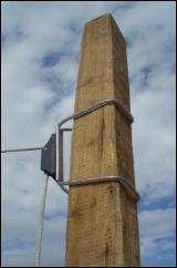 MWS 02 til solsejl med træstolpe