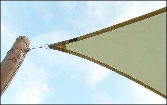 Solsejl af typen dacron 360g UPF80