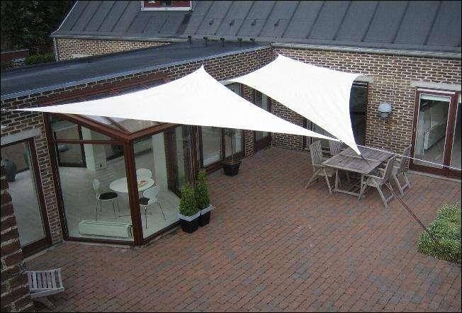 Solsejl der kan bruges som erstatning af havepavillonen