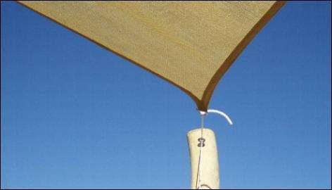 PEHD Type solsejl - Farve Sand / Camel