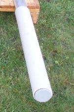 Sokkel-rør til nedgravning - solsejl